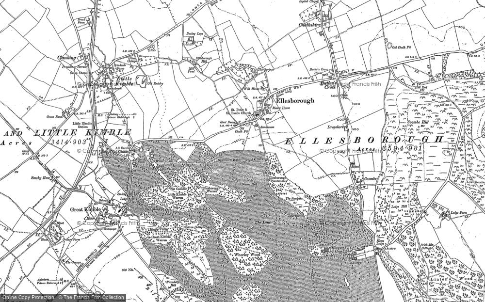 Old Map of Ellesborough, 1897 - 1898 in 1897
