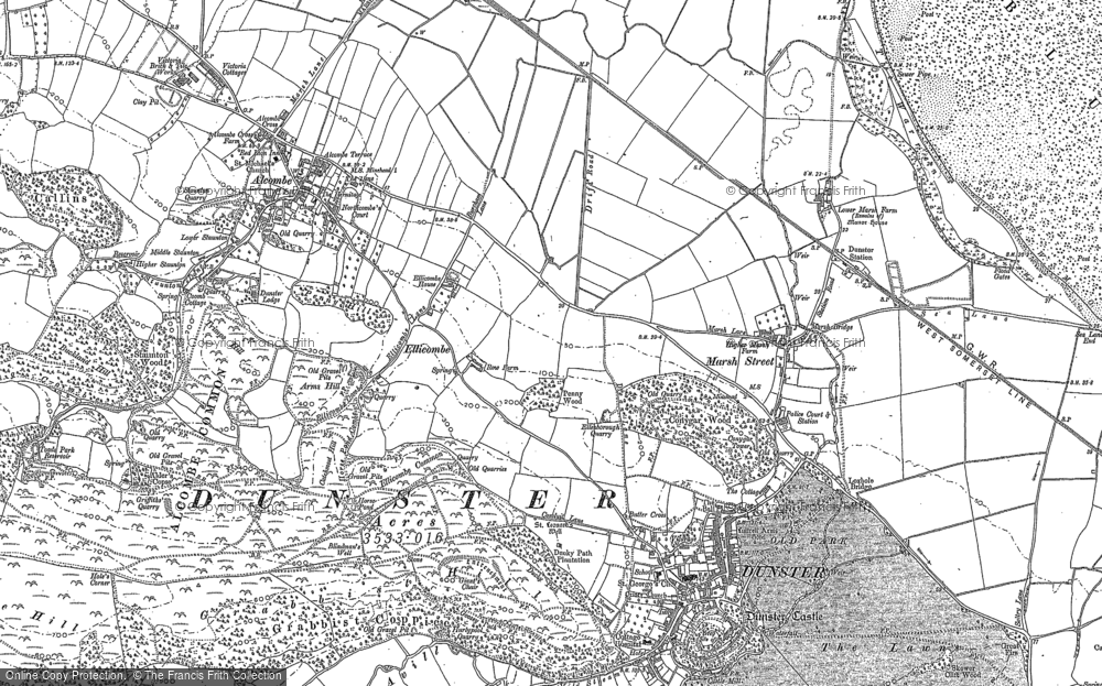 Old Map of Historic Map covering Aldersmead in 1902