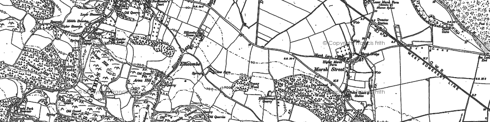 Old map of Aldersmead in 1902