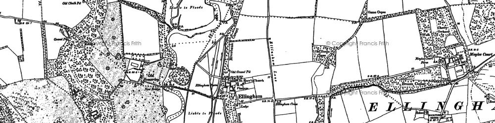 Old map of Ellingham in 1907