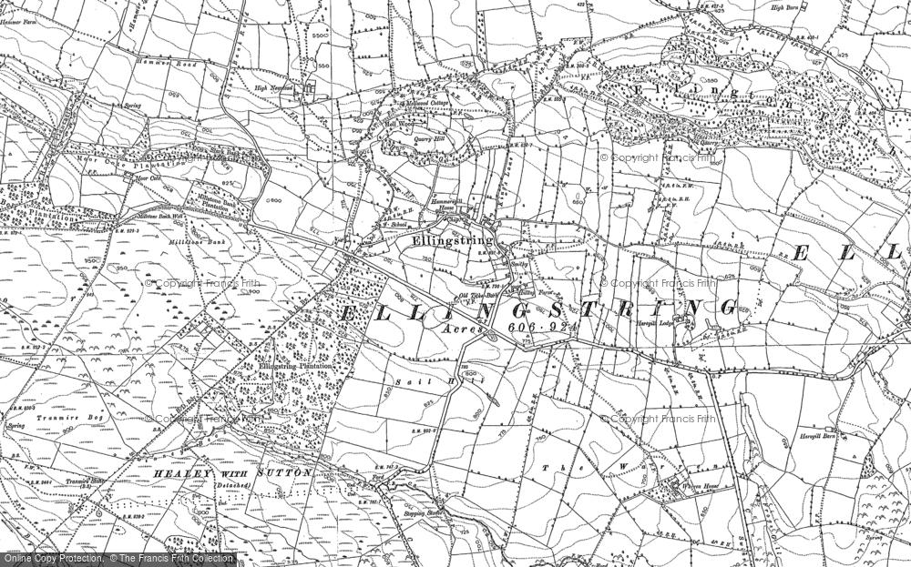 Old Map of Ellingstring, 1890 - 1893 in 1890