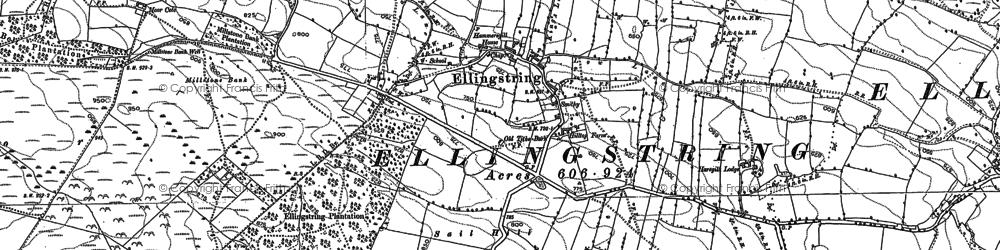 Old map of Ellingstring in 1890