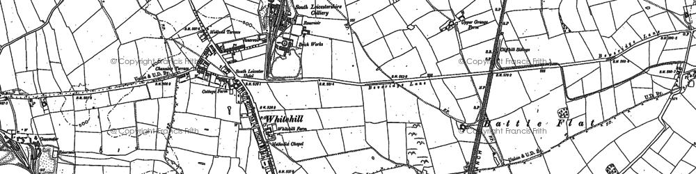 Old map of Battram in 1881