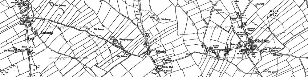 Old map of Wood Close in 1898
