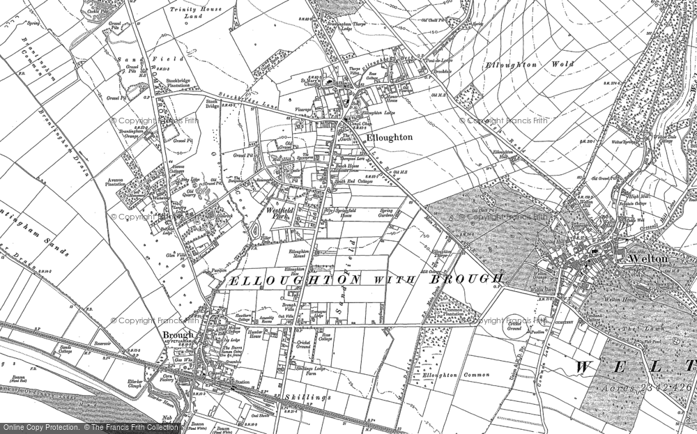 Old Map of Elloughton, 1888 - 1908 in 1888