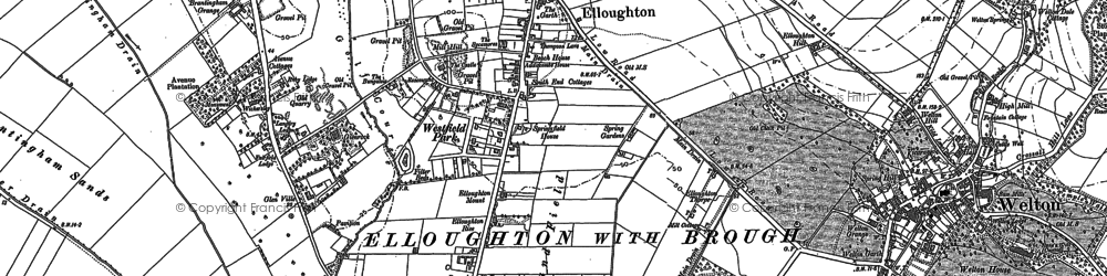 Old map of Elloughton in 1888