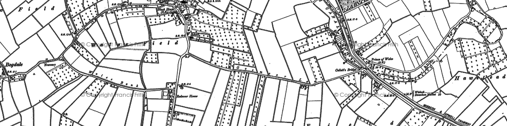 Old map of Elm in 1900