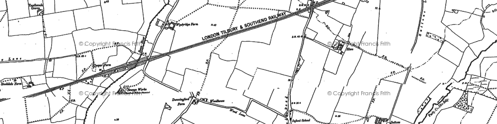 Old map of Elm Park in 1895