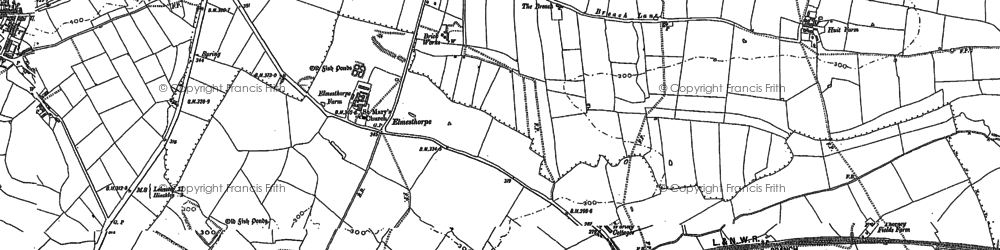 Old map of Aston Firs in 1886