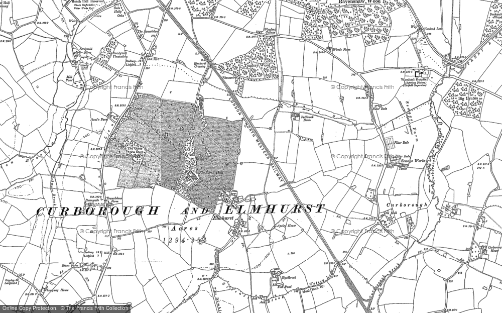 Old Map of Historic Map covering Lea Grange in 1882
