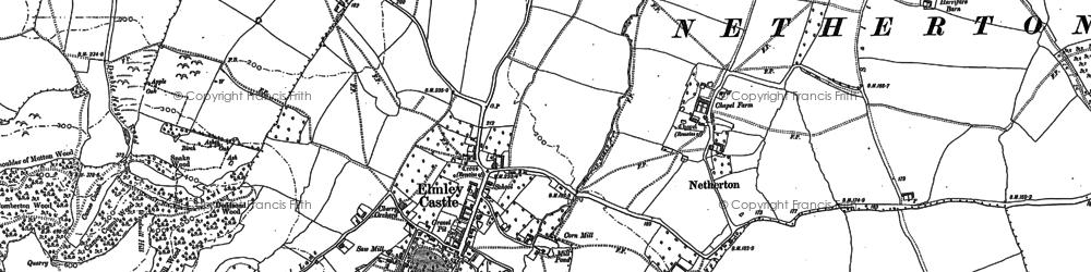 Old map of Elmley Castle in 1884