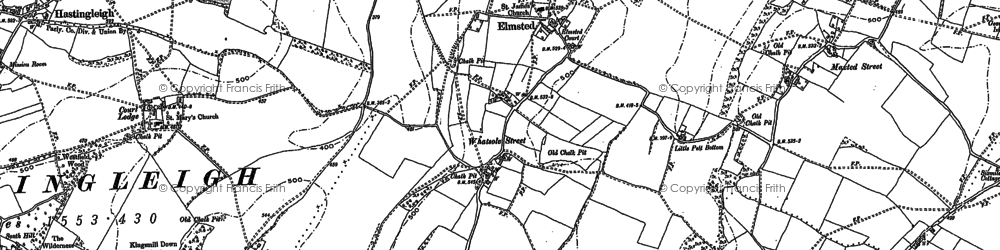 Old map of Whatsole Street in 1896