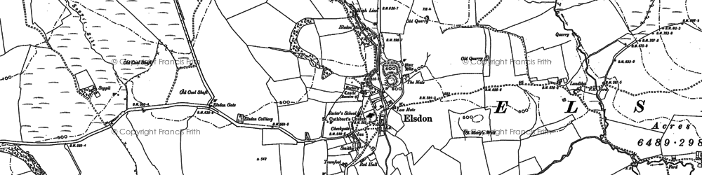 Old map of Leech-hope Crag in 1896