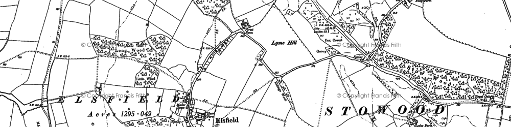 Old map of Wick Copse in 1898