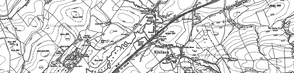 Old map of Yellison Ho in 1892