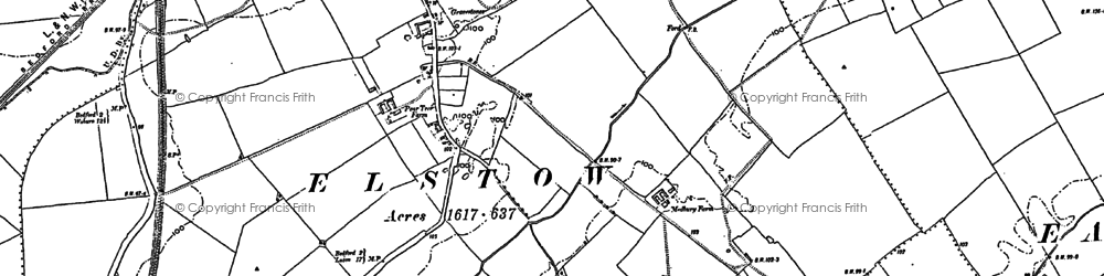 Old map of Elstow in 1882