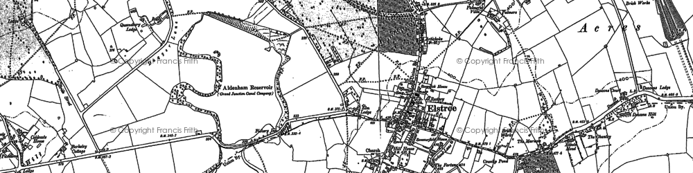 Old map of Aldenham Resr in 1896