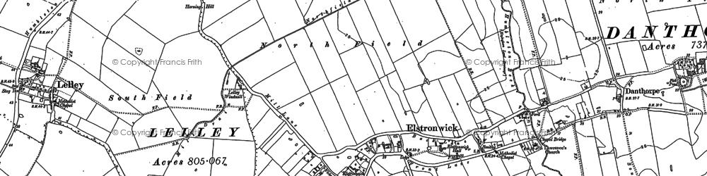 Old map of Lelley Grange in 1889