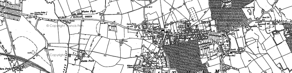 Old map of Avery Hill in 1894