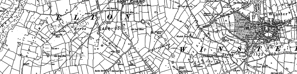 Old map of Elton in 1878