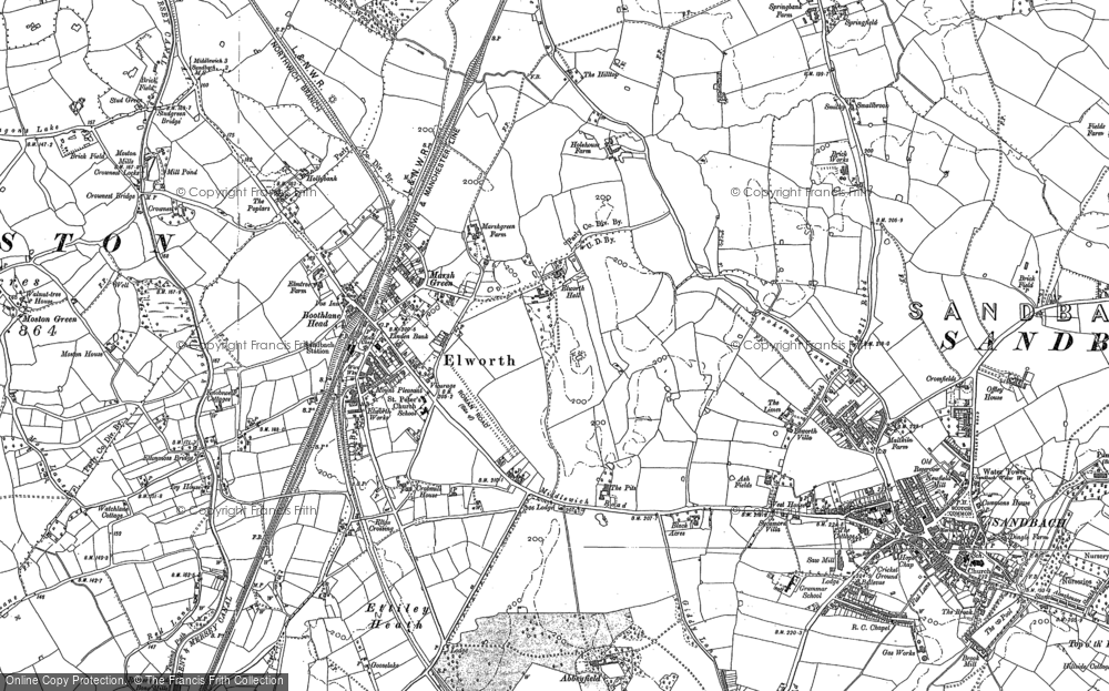 Old Map of Elworth, 1897 in 1897