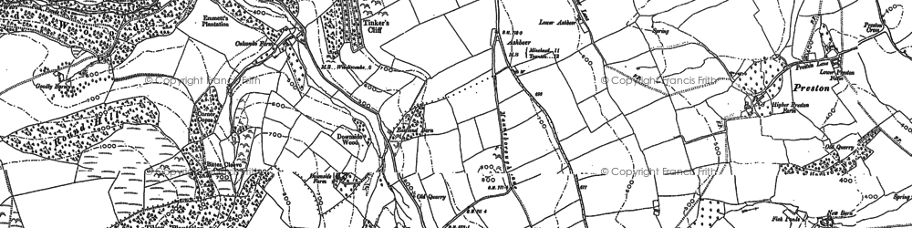 Old map of Ashbeer in 1886