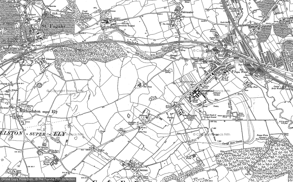 Old Map of Ely, 1898 - 1915 in 1898
