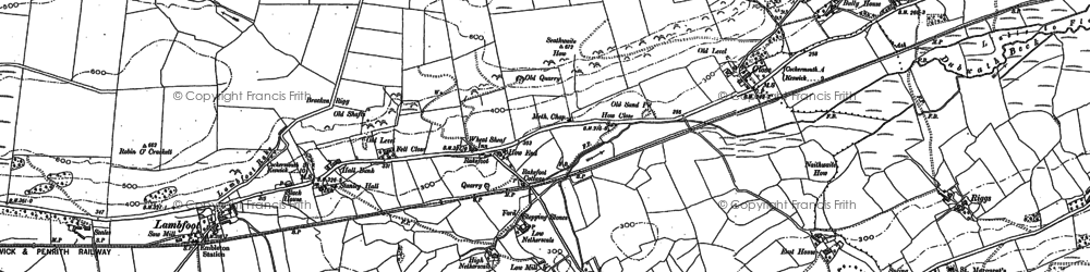Old map of Tom Rudd Beck in 1899