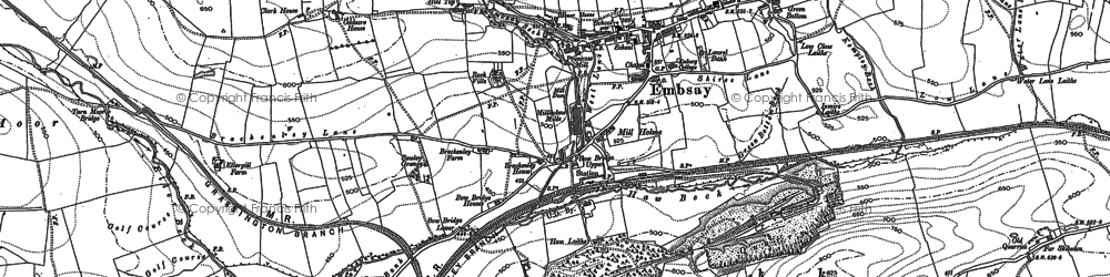 Old map of Embsay in 1907