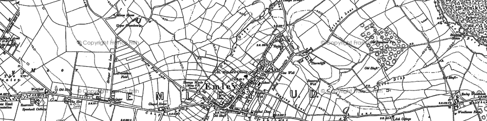 Old map of White Cross in 1891