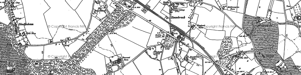 Old map of Woose Hill in 1898