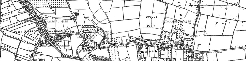 Old map of Banyer Hall in 1886