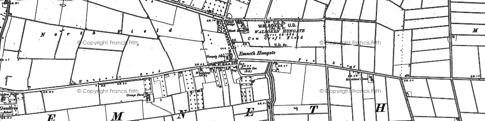 Old map of Titkill Br in 1886