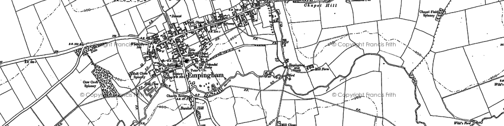 Old map of Empingham in 1902