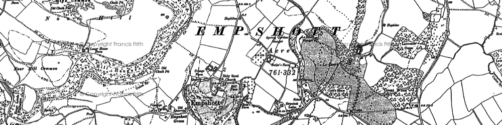 Old map of Le Court in 1895