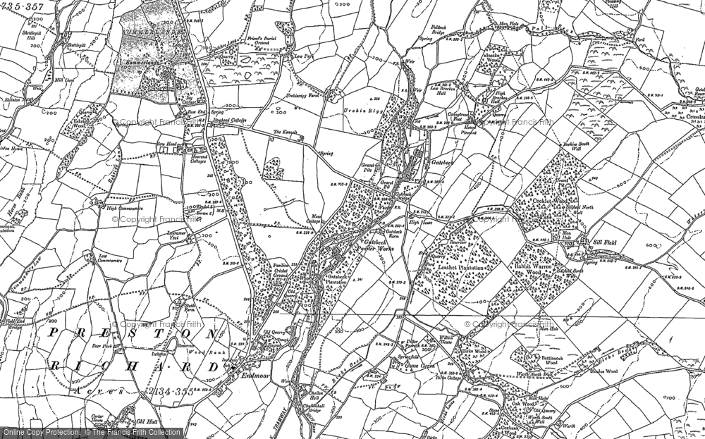 Old Map of Endmoor, 1896 - 1897 in 1896