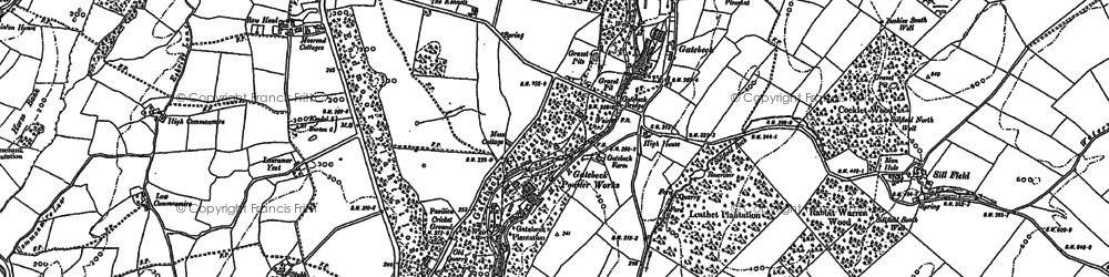 Old map of Endmoor in 1896