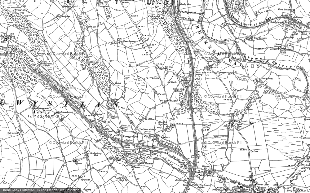 Old Map of Energlyn, 1898 - 1915 in 1898
