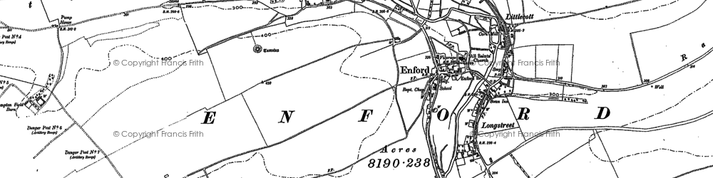 Old map of Fifield in 1899