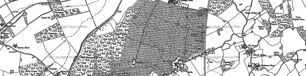 Old map of Englefield in 1898