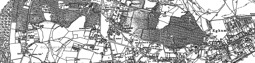 Old map of Cooper's Hill in 1912