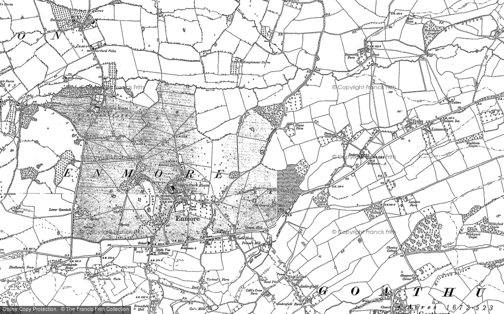 Old Map of Historic Map covering Barford Ho in 1886