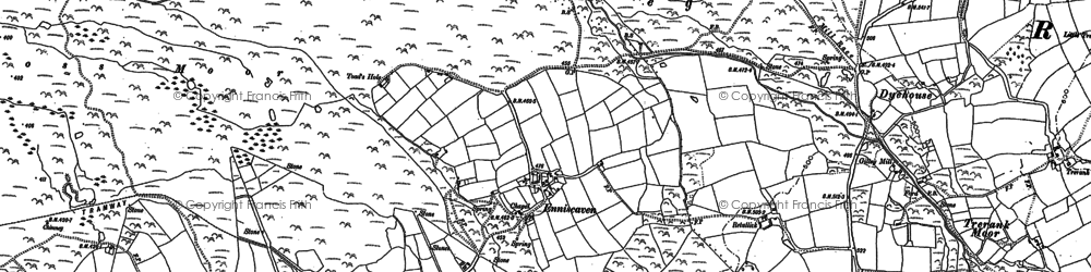 Old map of Enniscaven in 1879