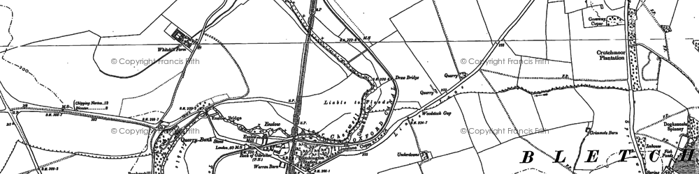 Old map of Whitehill Earth Station in 1898