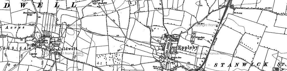 Old map of Eppleby in 1892