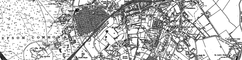 Old map of Woodcote in 1894