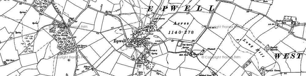 Old map of Yarn Hill in 1899