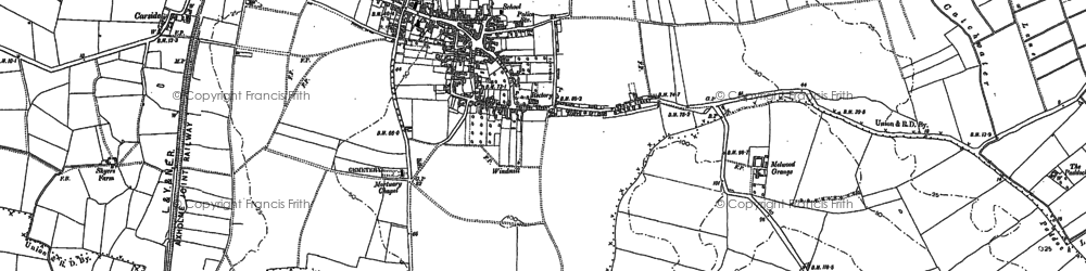 Old map of Epworth in 1885