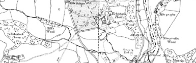 Old map of Bryn Pen-y-lan centred on your home