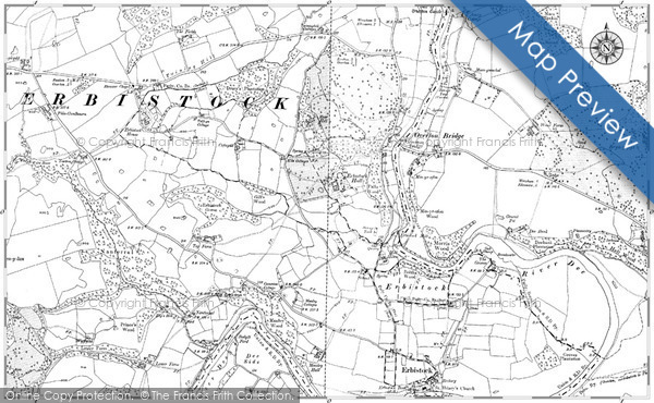 Historic map of Bryn Pen-y-lan